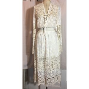 Yoana Baraschi Silk blend voile boho wedding dress